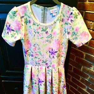 LuLaRoe Amelia Dress - Spring Floral Print XXS